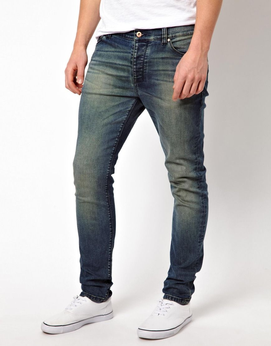 2ec4f5fe ASOS Skinny Jeans In Mid Wash With Green Tint   Buy This, Wear this ...
