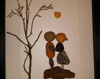 Pebble art rock art beach stone art loving di madebynatureandme