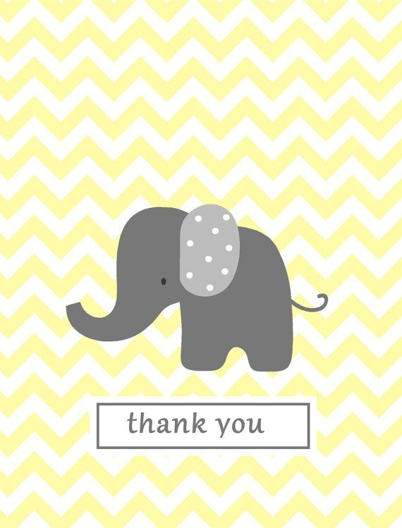 Chevron note card baby thank you notes yellow chevron elephant thank chevron note card baby thank you notes yellow chevron elephant thank you stationery baby shower gift negle Gallery