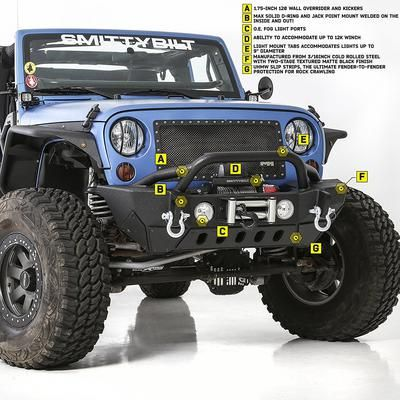 Smittybilt Xrc Front Bumpers Jeep Front Bumpers Jeep Wrangler