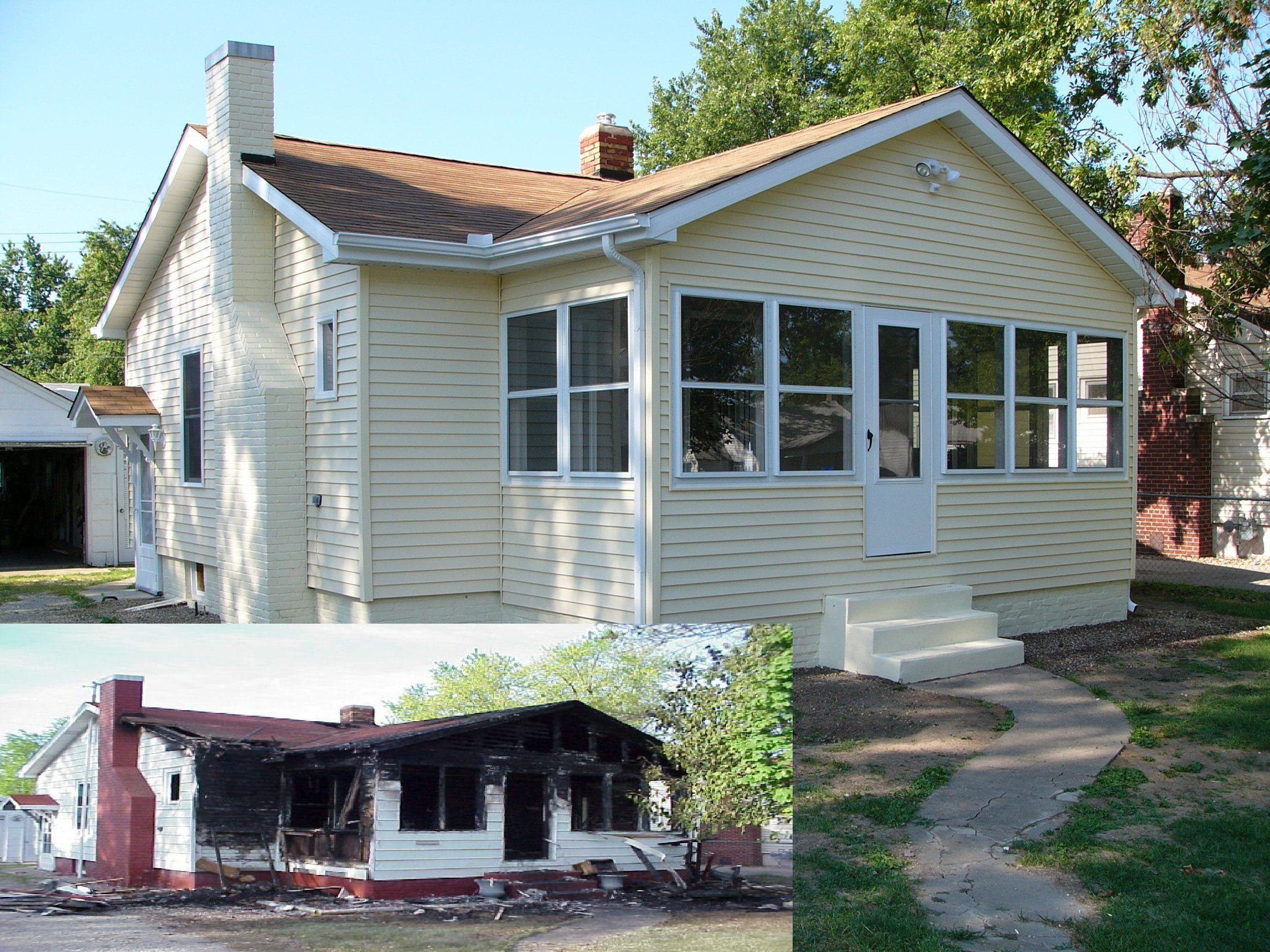 Home Remodel After Fire Damages Completed By J J Swartz