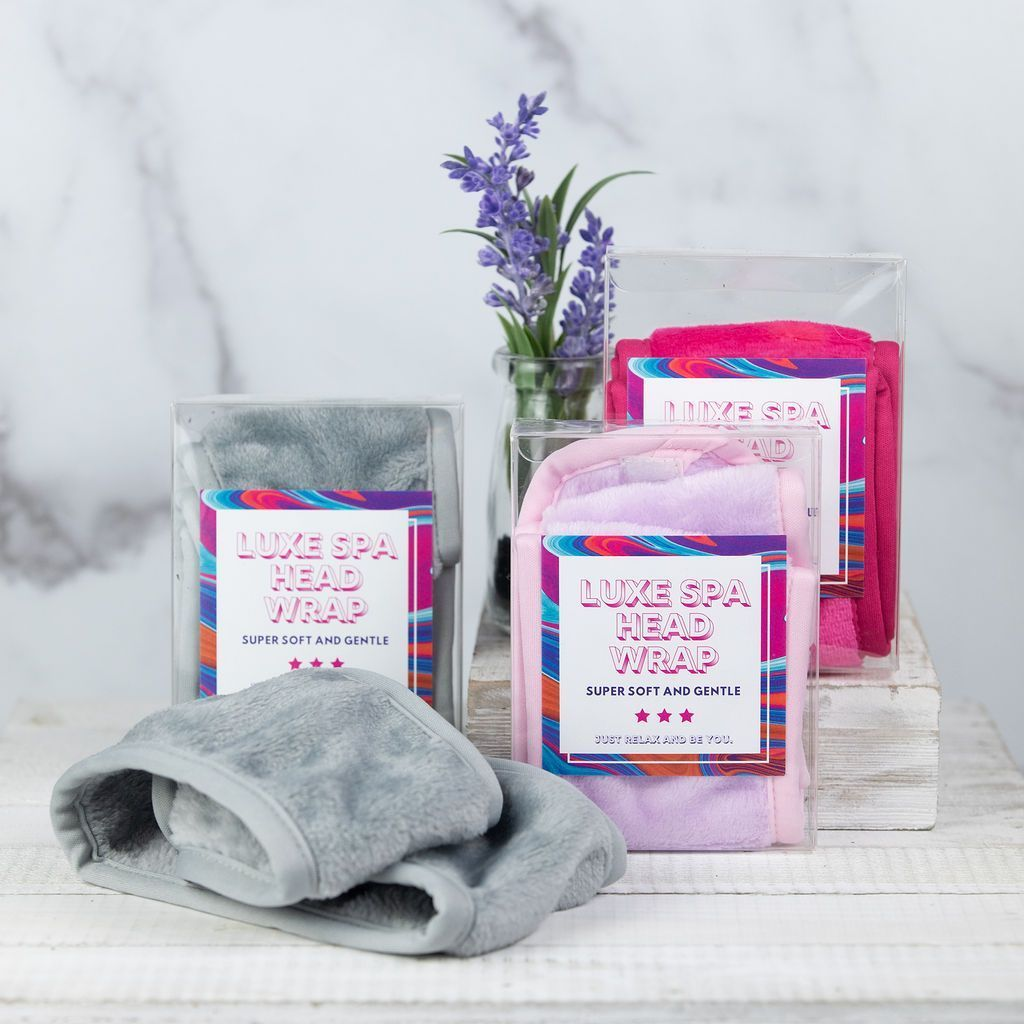 Luxe and Soft Spa Headwraps – Hot Pink