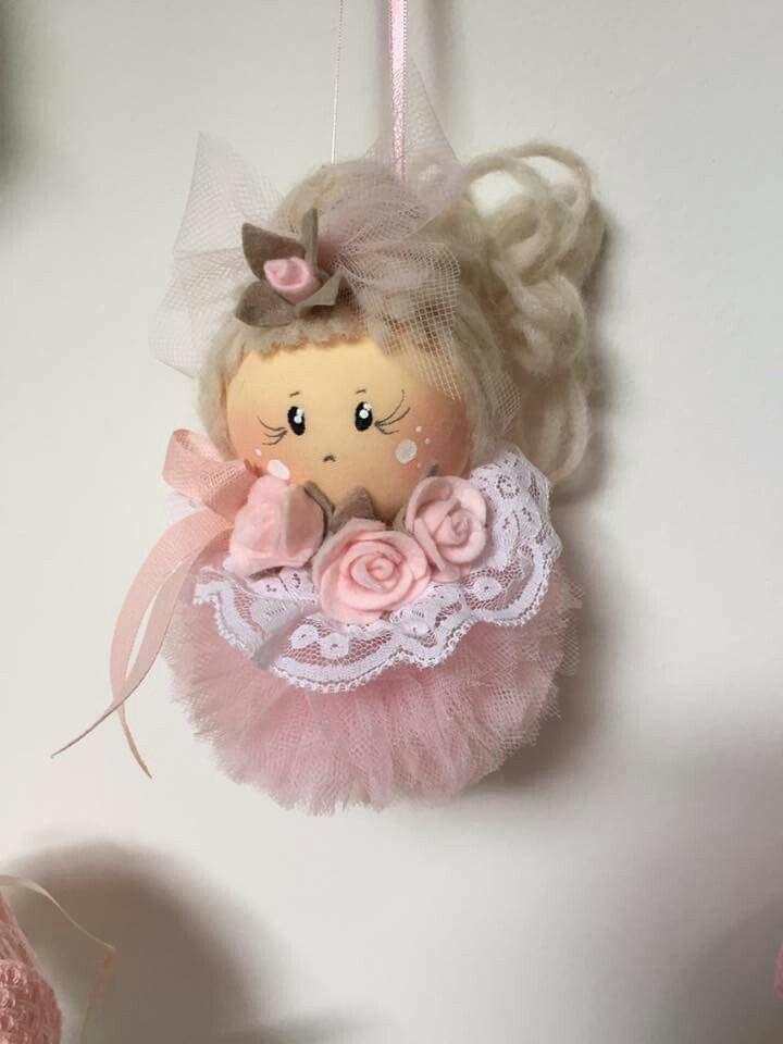 Bamboline | Decorazioni natalizie col feltro, Bamboline, Bambole