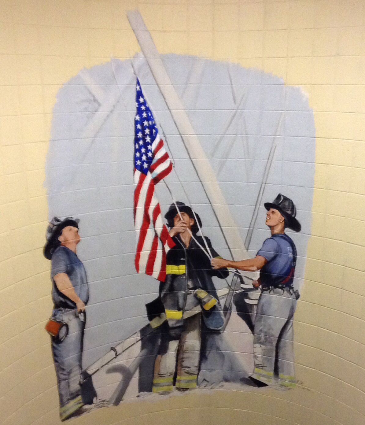 Painting in stairwell at torrington fire department