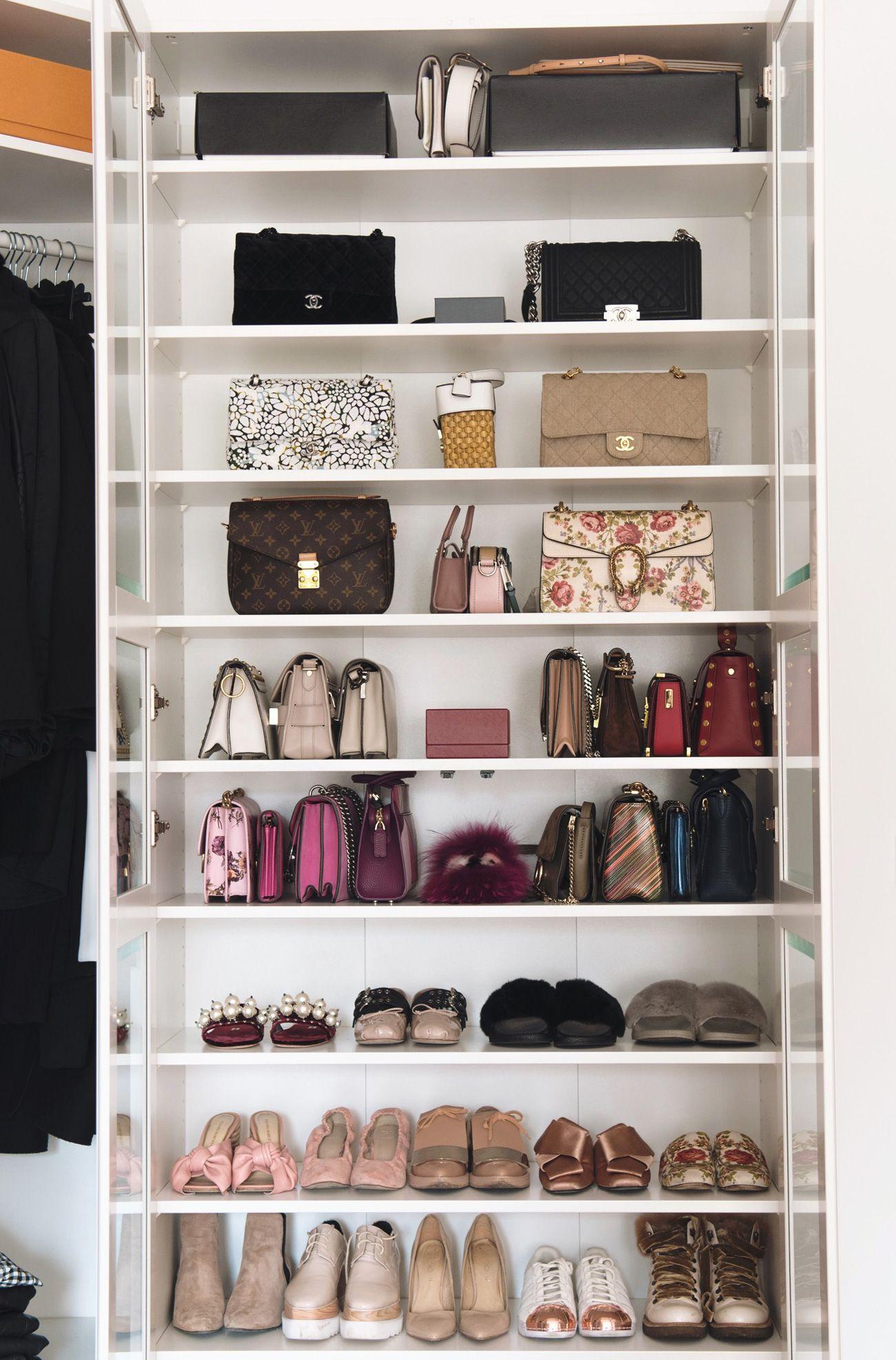 Interior Meine Taschen Und Schuhvitrine Tasche Schrank Ankleidezimmer Planen Ikea Ankleide