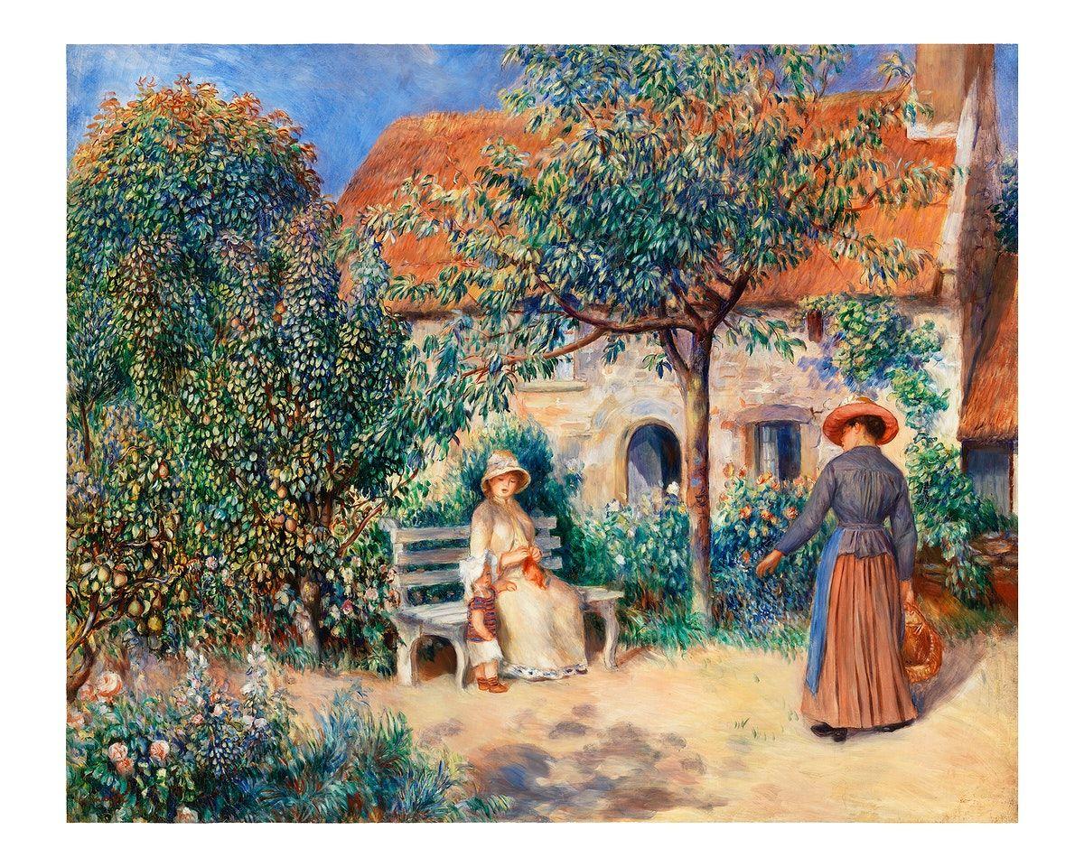 Download Premium Illustration Of In Brittany En Bretagne 1886 By Pierre Auguste Renoir Renoir August Renoir