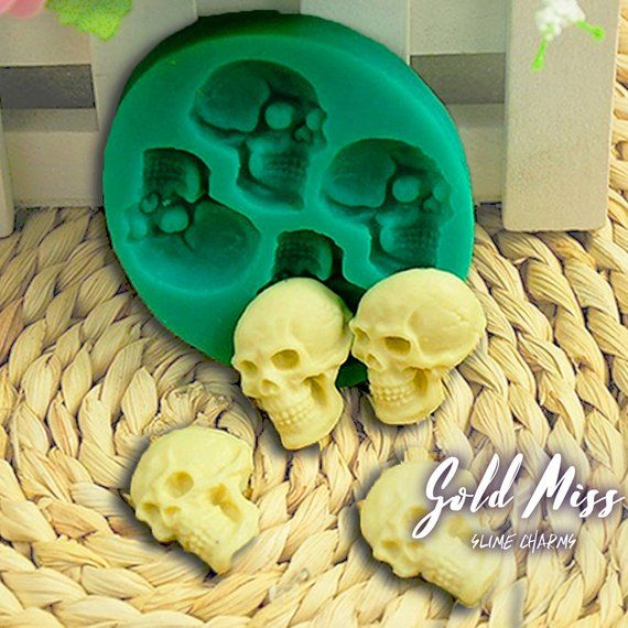 Skull Mold DIY Jewelry Making Kit Food Safe Silicone Gum Paste Mold