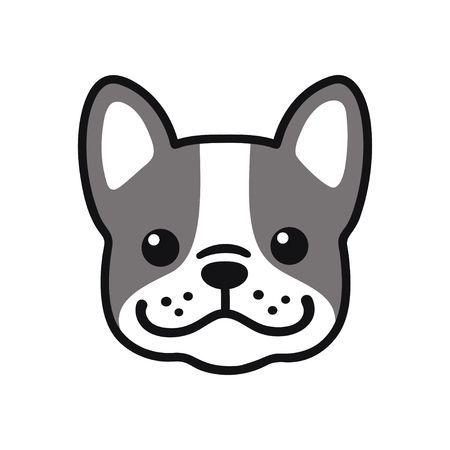 Cute Cartoon French Bulldog Face Drawing Adorable Little Dog Dog Drawing Simple Dog Face Drawing Cute Dog Drawing