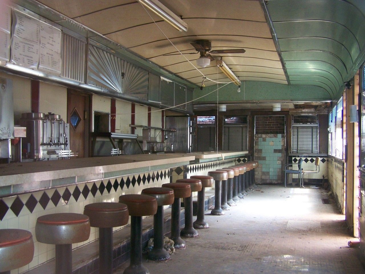 Abandoned Art Deco Diner Counter New Jersey