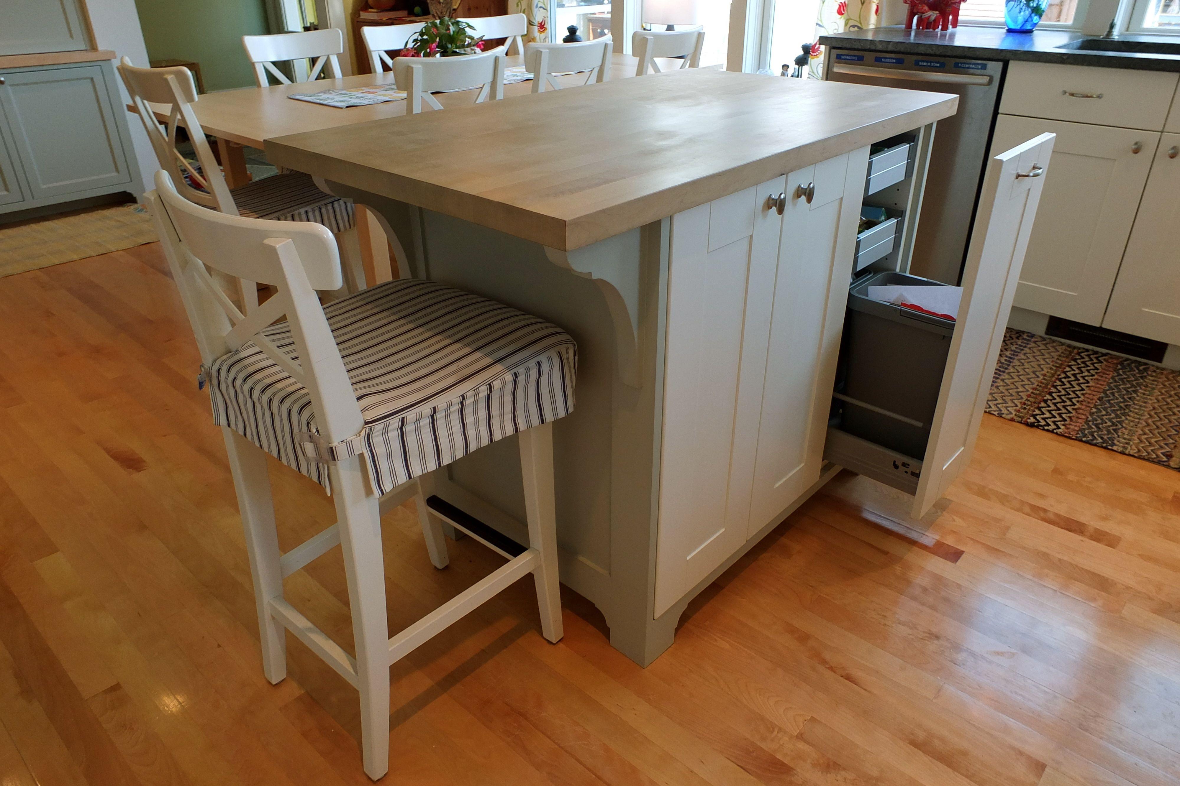 Custom Built Island Using Ikea Cabinet Doors And Hardware Diy Kitchen Island Diy Kitchen Kitchen Addition