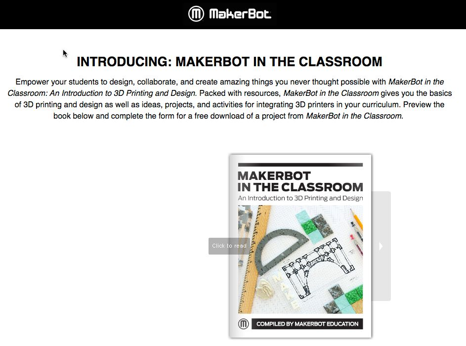 Download a free PDF MakerBot for the Classroom book! | 3D print