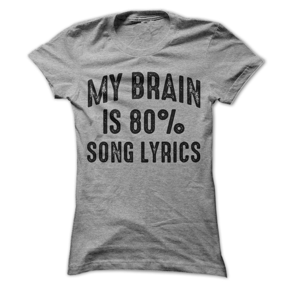 My Brain Is 90% Song Lyrics Hoodie - Music lover shirt zk5Y44h