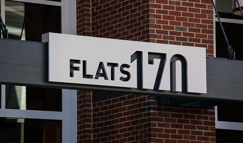Flats 170 Ashton Design Signage Design Exterior Signage Environmental Graphics Signage