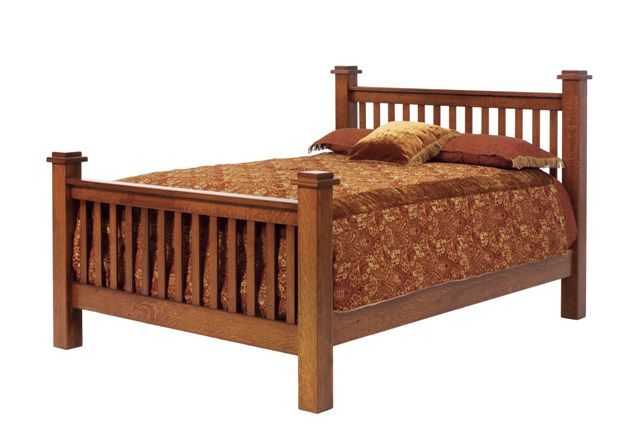 Amish Old English Vintage Mission Bed Mission Style Beds