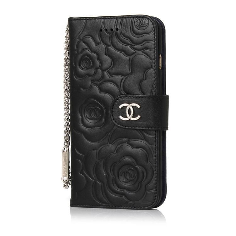 3d4f8a1c2085e6 Luxury Camellia Leather Wallet Best Case Chanel iPhone 6(6S) Black ...