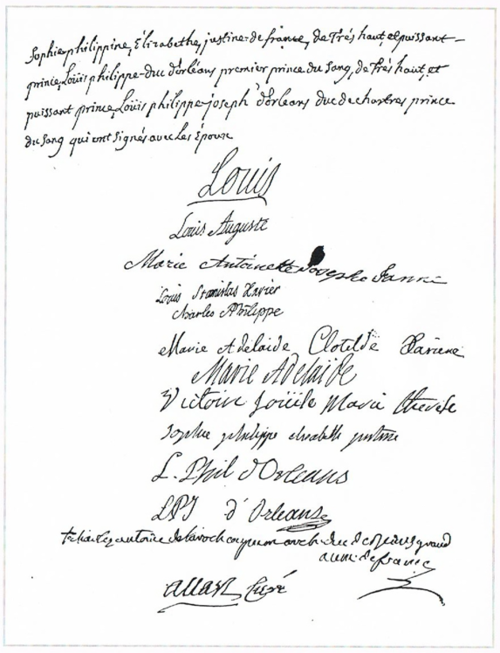 Marriage Contract Of Marie Antoinette And The Dauphin Whose