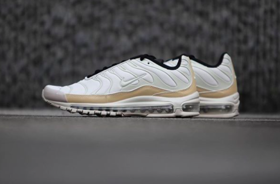 56ec4e4901 Release Reminder: Nike Air Max 97 Plus Light Orewood Brown The hybrid Nike  Air Max