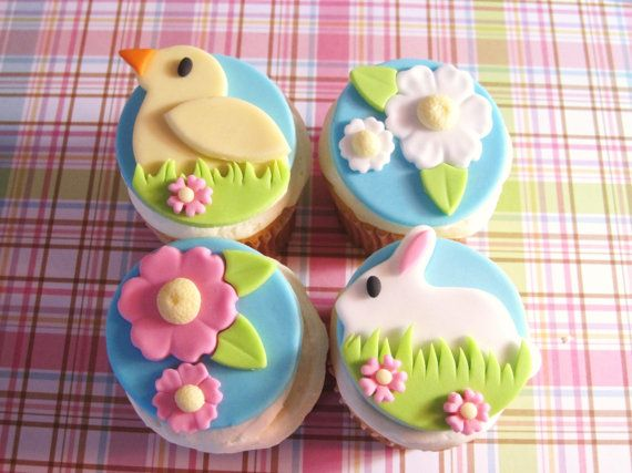 New Easter Cake Toppers Easter  Signs Cupcake Picks One Dozen