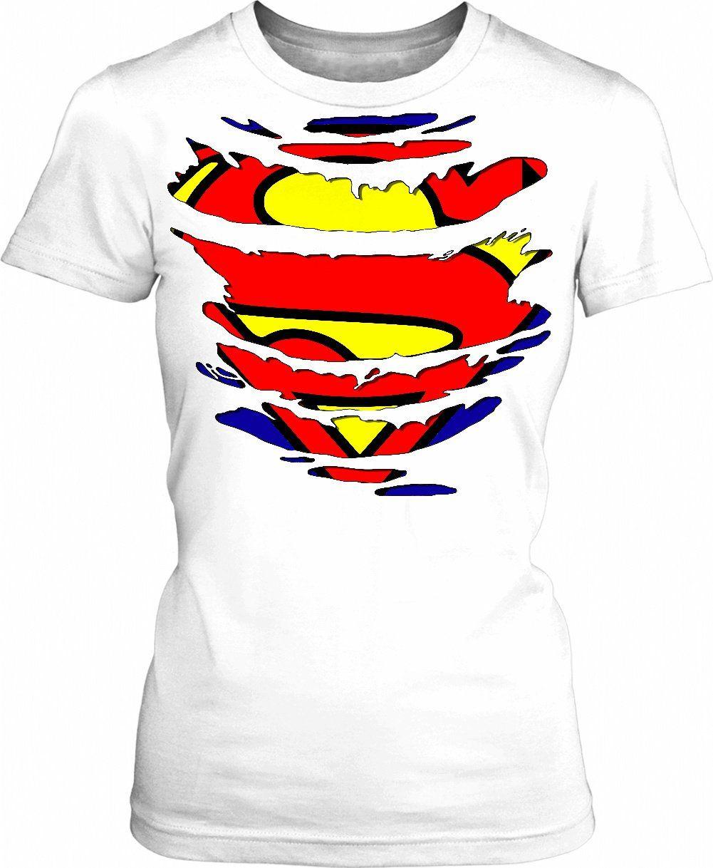 Superhero Girl In Disguise Torn Apart Tee Shirt Girls Style