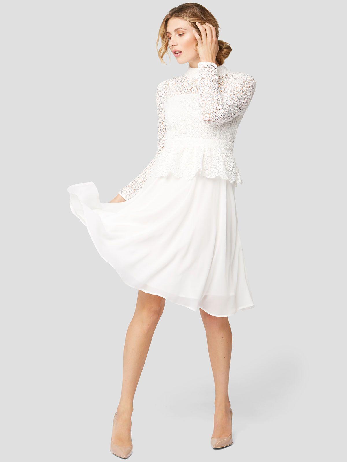 weißer spitzen-traum! das feminine cocktailkleid mit einem