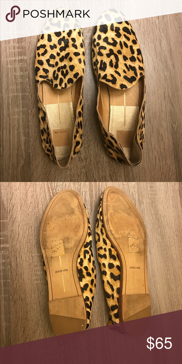 Dolce Vita Leopard Loafers Fun leopard loafers that are super comfortable! Only worn twice. Dolce Vita Shoes Flats & Loafers