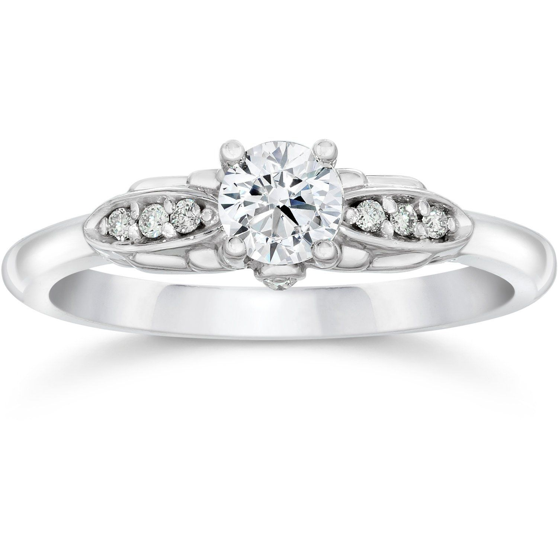Vvs cttw diamond vintage antique style engagement ring k