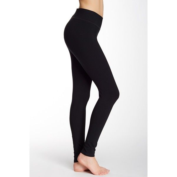 cf7f083482438 shimera Wide Waist Band Legging ($15) ❤ liked on Polyvore featuring pants,  leggings, black, cotton pants, elastic waistband pants, waistband pants,  wide ...