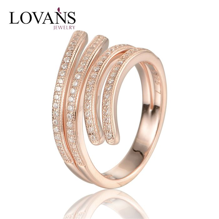 Silver 925 New Model Ring Latest 14k Rose Gold Plated Antique Rings Design RIP037