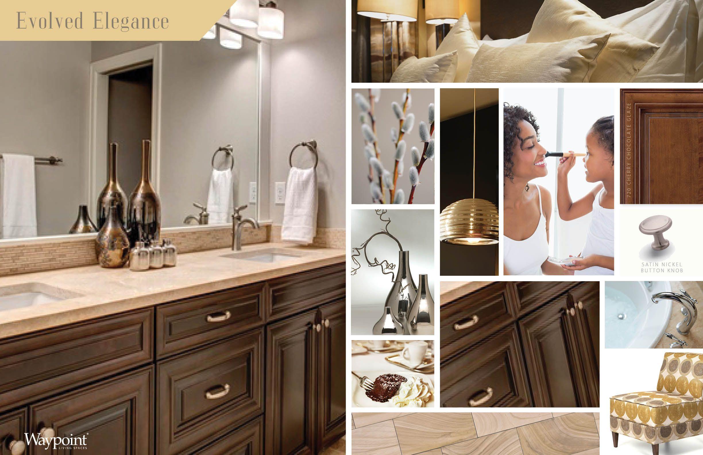 Bathroom cabinets shown with door style 720 Cherry Chocolate Glaze.