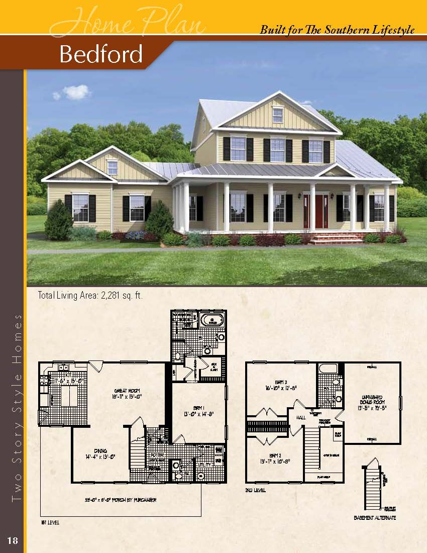 The Bedford 3 Bedrooms 2 5 Baths Visit Www Modukraf Com For More Information On Building Your New Home With Modukraf House Plans House Floor Plans Home