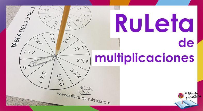 Ruleta De Multiplicaciones Multiplicacion Tablas De Multiplicar Aprender Jugando