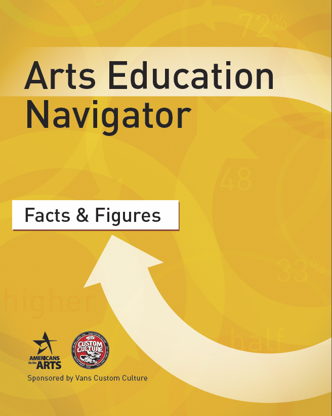 Each e-book in the Navigator series covers a specific topic, ensuring arts education supporters like you are equipped with the knowledge, statistics, and case-making techniques needed to effectively communicate with decision-makers.  Americans for the Arts has designed the Arts Education Navigator, Read more about our partnership with Vans.a series of e-books designed to help educators,  students, and advocates navigate the complex field of arts education.