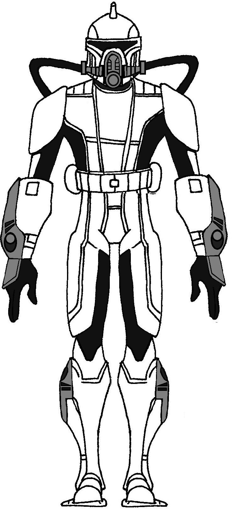 Clone Scuba Trooper Phase 2 Star Wars Rpg Star Wars Helmet Star Wars Trooper
