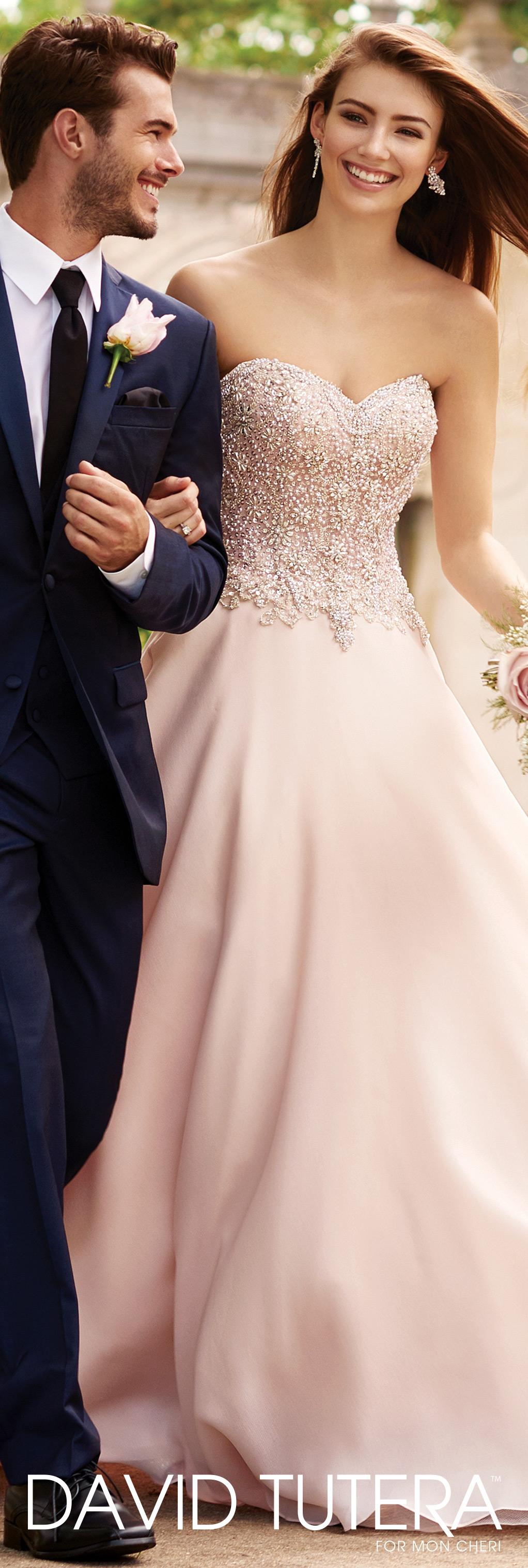 Strapless Satin Beaded Ball Gown Wedding Dress- 117266 Adelina ...
