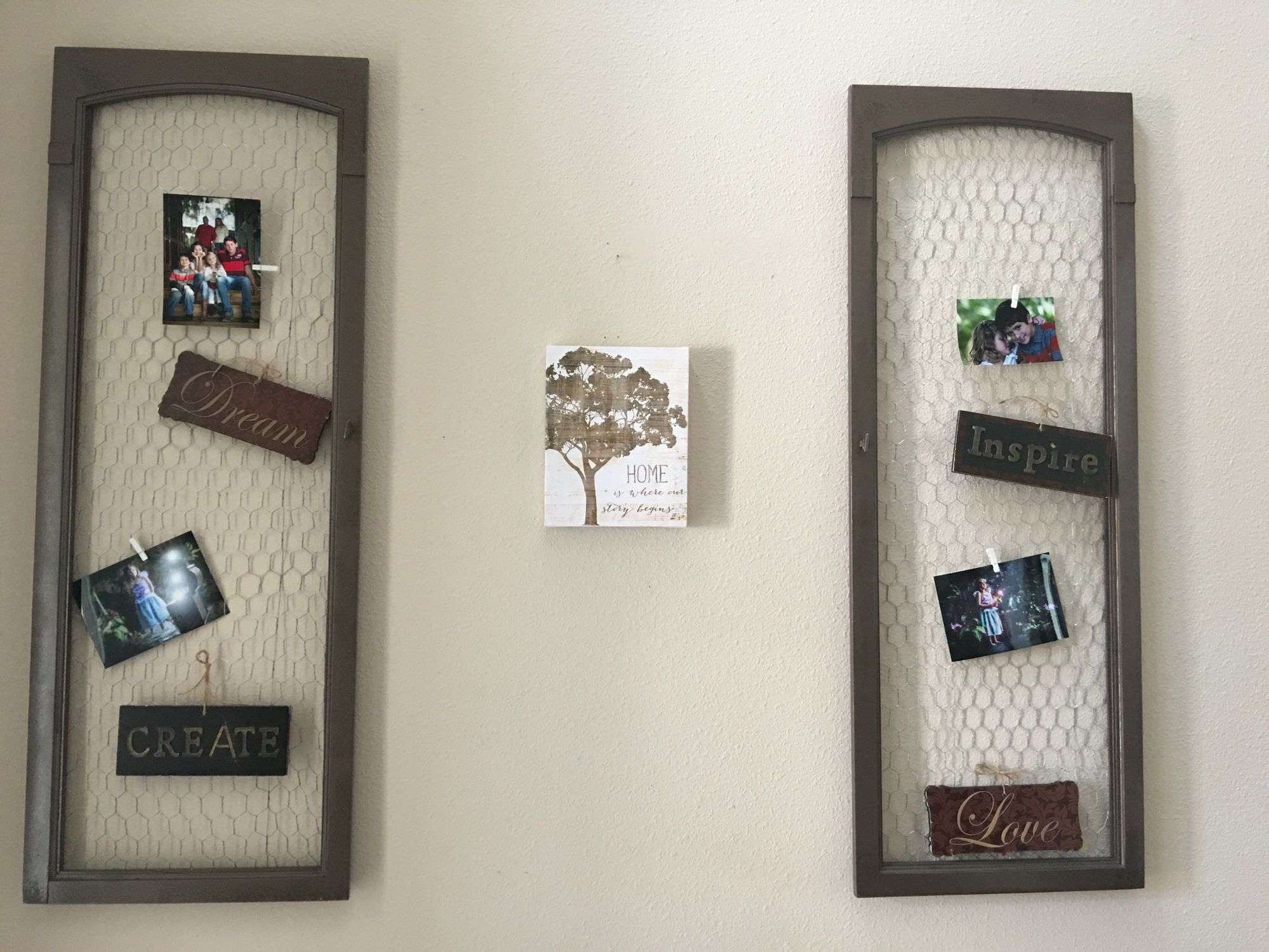 Entry doorway wall :) with Doors from old china buffet cabinet and ...