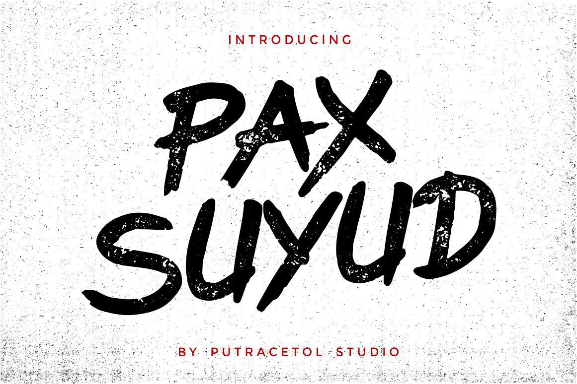 Pax Suyud Brush Font Free Display Fonts