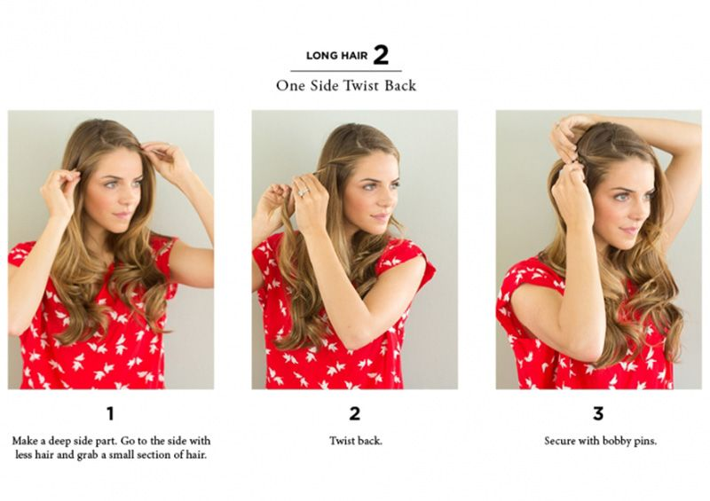 How To Style Hair 10 Easy Ways To Style Hair  Easy Hairstyles