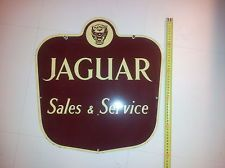 "JAGUAR ORIGINAL ENAMEL SALES - SERVICE SIGN 20"" X 20-"