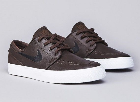 d4c9719f Nike SB Stefan Janoski Leather - Baroque Brown - Black - SneakerNews ...