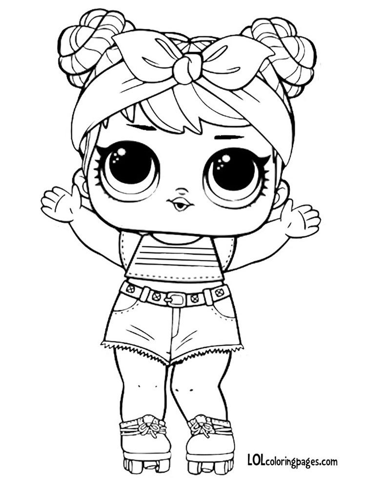 dawn coloring pages | Dawn Series 3 lol doll coloring page | Dibujos para ...