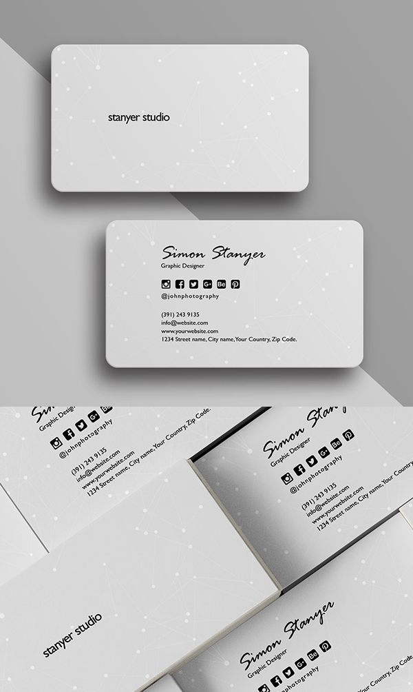 Elegant Minimal Business Card Template | Business card | Pinterest ...