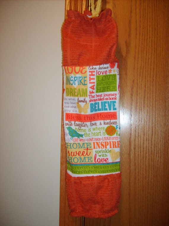 Grocery Bag Holder/Dispenser (hook included) by CrochetandOrnaments, $9.00
