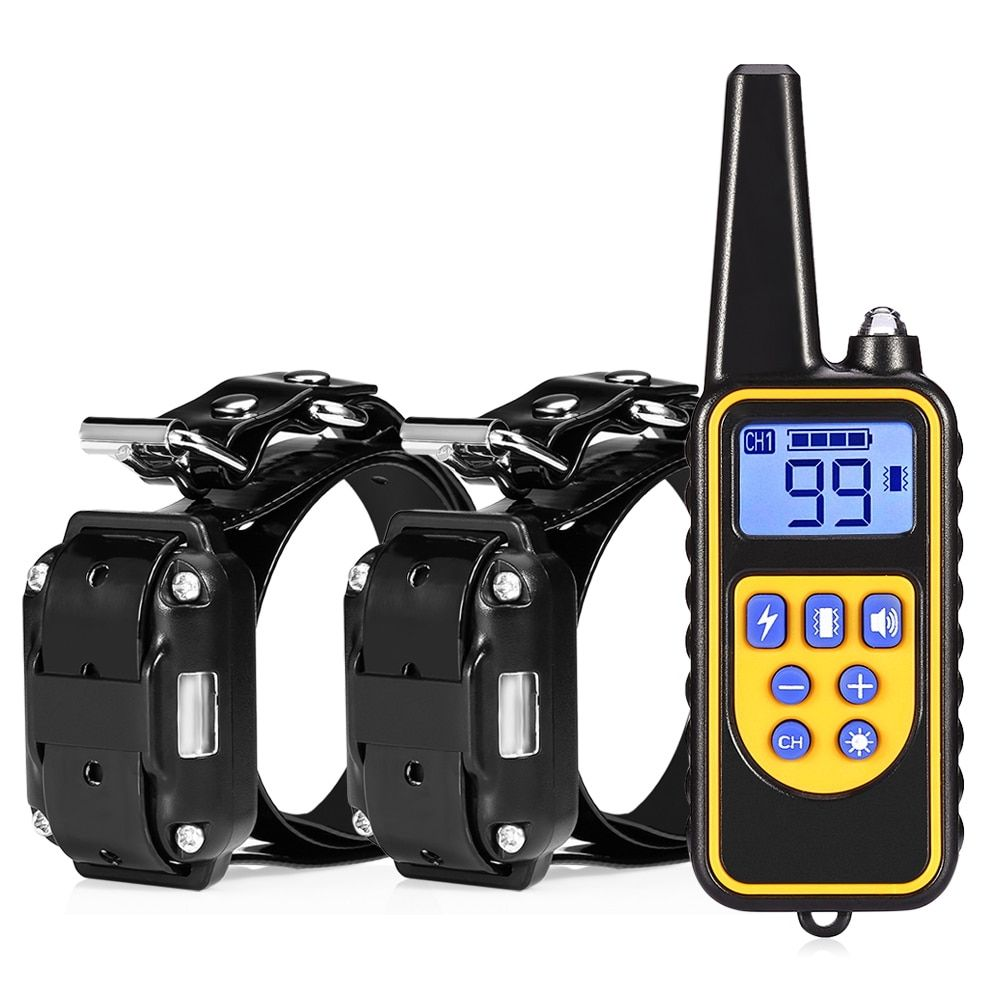 800m Electric Dog Training Collar Waterproof Rechargeable Dog