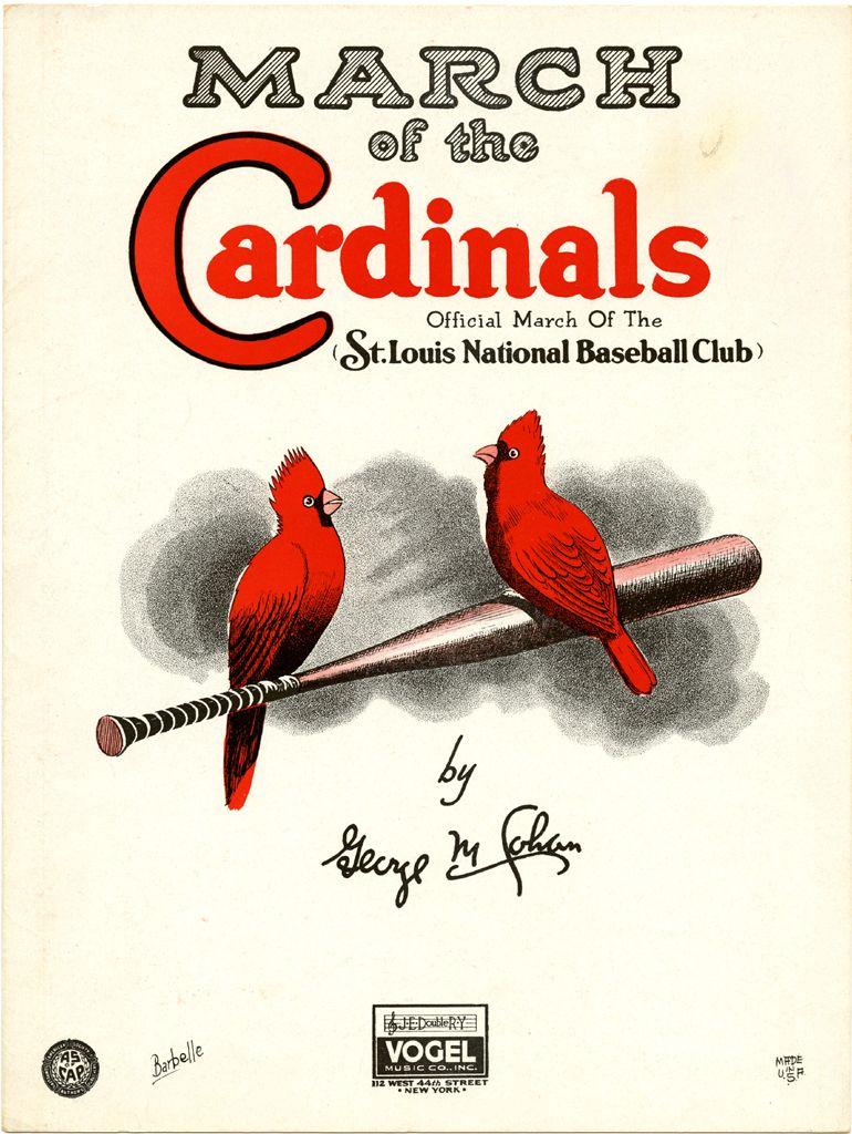 For Cards fans: St. Louis National Baseball Club's official march. Sam DeVincent Collection of Illustrated American Sheet Music, 1790-1980, Archives Center, National Museum of American History. #WorldSeries
