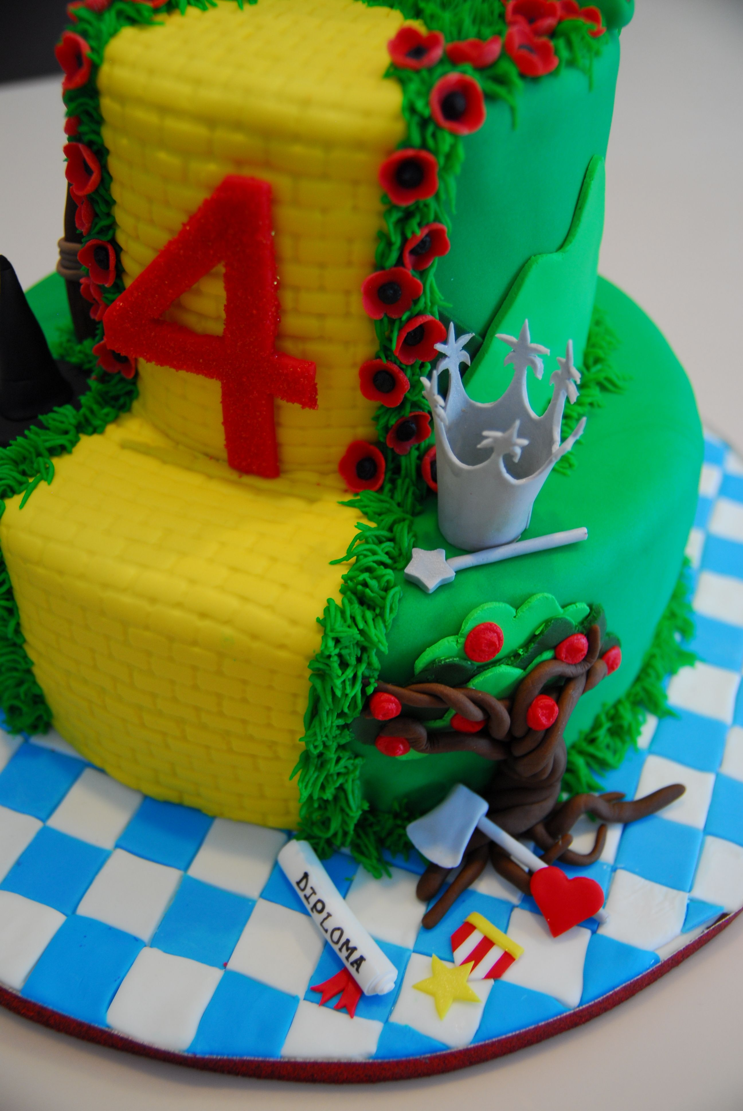 Fine Pin By Geri Hernandez On Wizard Of Oz Birthday Cake Kids Cake Funny Birthday Cards Online Bapapcheapnameinfo