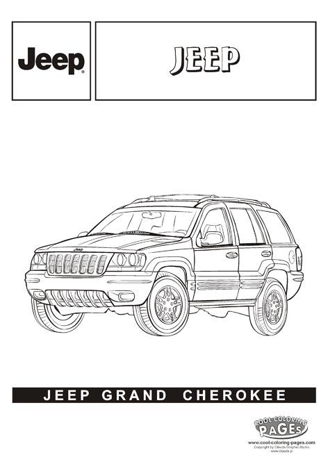 Jeep Grand Cherokee - Cars coloring pages | Kid junk | Pinterest ...