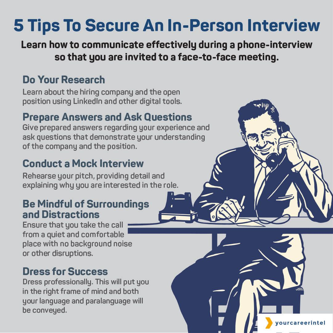 5 Tips To Secure An InPerson Interview Interview