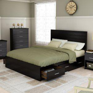Sonax Willow Queen Storage Platform Bed - Ravenwood Black Image