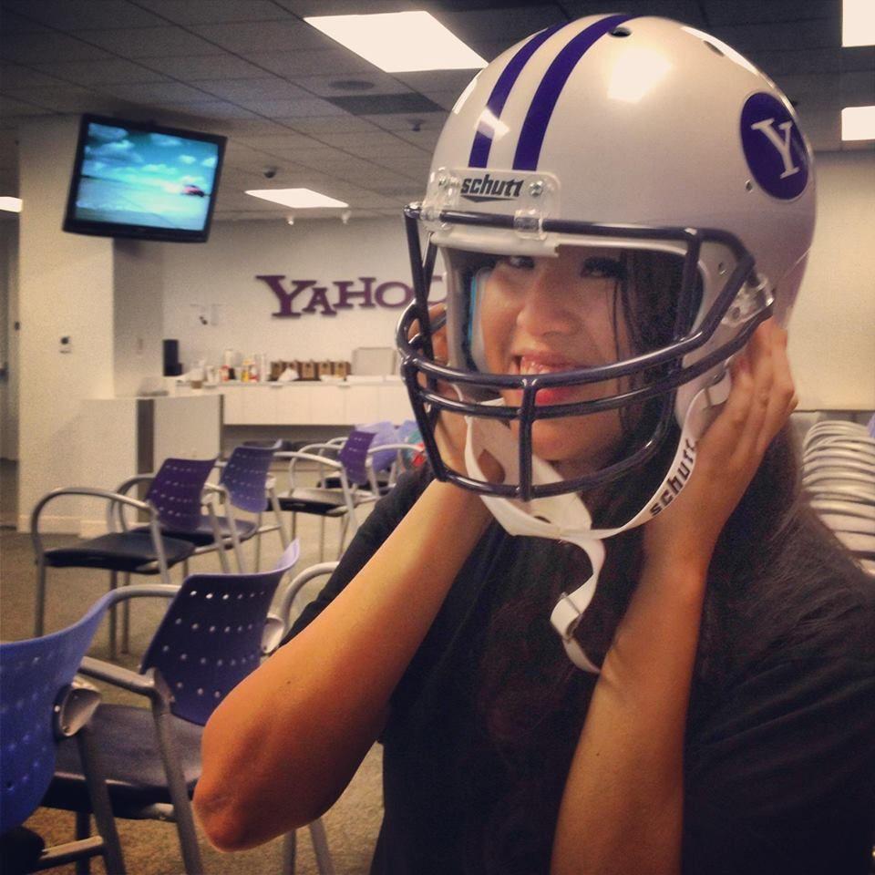 Yahoo Hackathon 2013 Service design, Football helmets