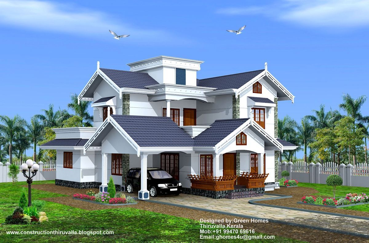 South Indian Home Front Design Using Cost To Paint Exterior House